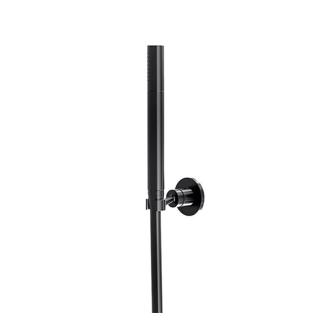 Steinberg Universal Brausegarnitur mit Wandhalter schwarz matt