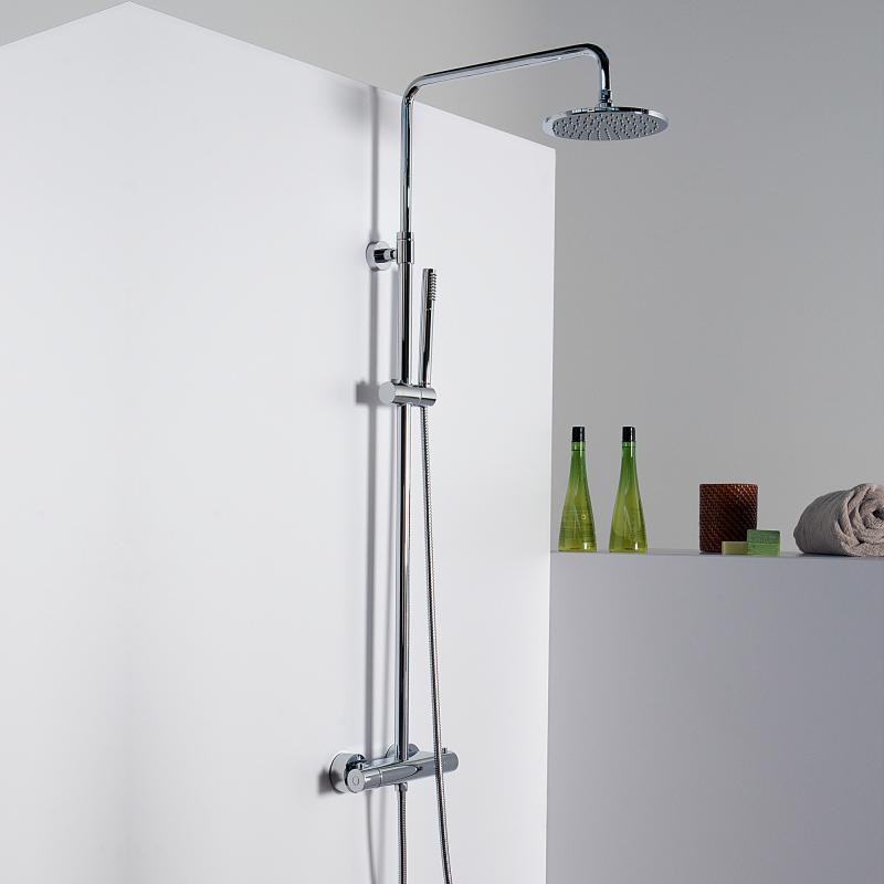 steinberg serie 100 170 brauseset komplett mit thermostatarmatur chrom 100 2721 reuter. Black Bedroom Furniture Sets. Home Design Ideas