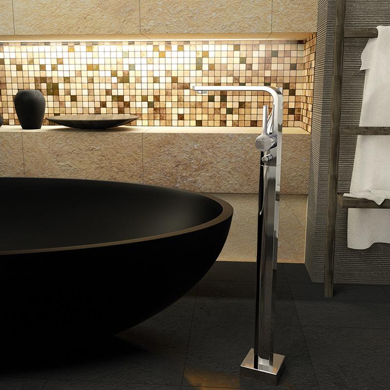 steinberg serie 230 freistehende wanne brause armatur 230 1163 reuter. Black Bedroom Furniture Sets. Home Design Ideas
