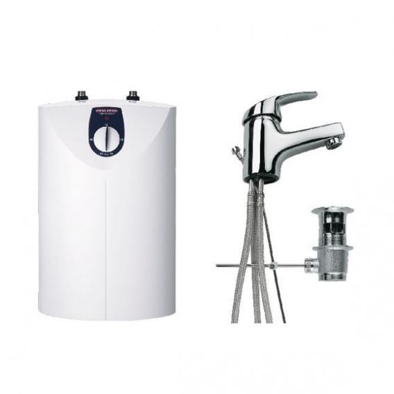 Stiebel Eltron Kleinspeicher SNU 5 SL + MAE-W, 5 Liter mit Waschtischarmatur, offen