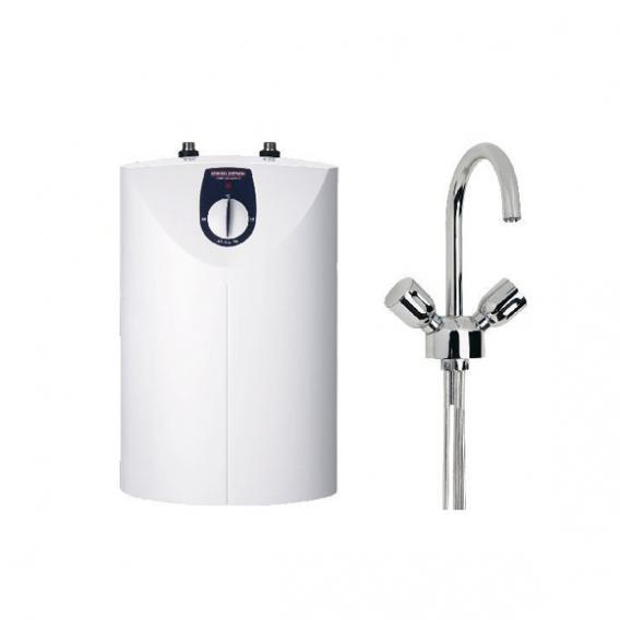 Stiebel Eltron Kleinspeicher SNU 5 SL + WST-W, 5 Liter mit Waschtischarmatur, offen