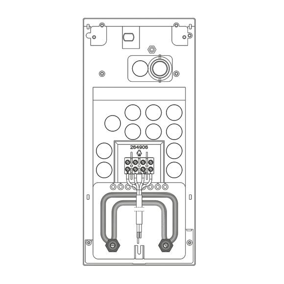 Stiebel Eltron Rohrbausatz Gas-Wasserheizer-Austausch mit Universal-Montagerahmen