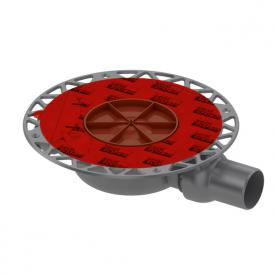 TECE drainpoint S Ablauf DN 50 superflach waagerecht mit Seal System Universalflansch