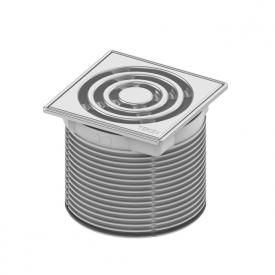 TECE drainpoint S Rostrahmen Edelstahl inkl. Designrost L: 10 B: 10 cm