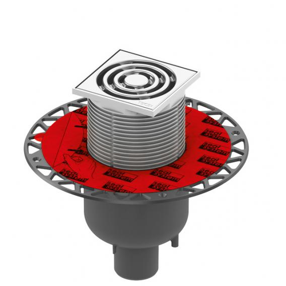 TECE drainpoint S 130 Ablaufset senkrecht mit Seal System Universalflansch