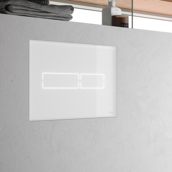 TECE lux Mini Betätigungsplatte mit elektronischer Touch-Betätigung weiß