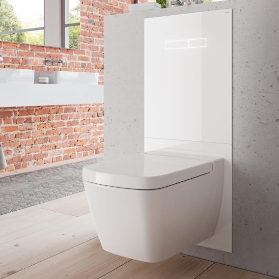 TECE lux WC-Betätigungsglasplatte mit elektronischer sen-Touch Betätigung weiß