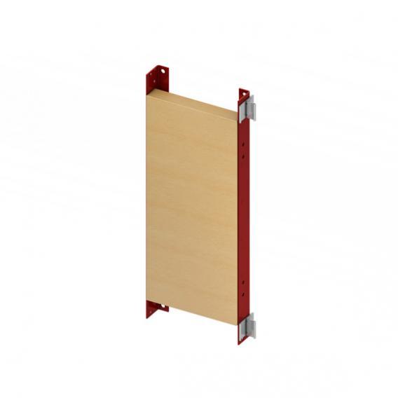 TECE profil Befestigungsplatte für Stützgriffe und Haltesysteme, H: 65,5 cm