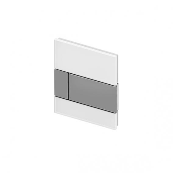 TECE square Glas Urinal-Betätigungsplatte inkl. Kartusche weiß/edelstahl gebürstet