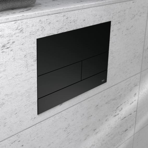 TECE square II Metall WC-Betätigungsplatte für 2-Mengen-Technik schwarz matt