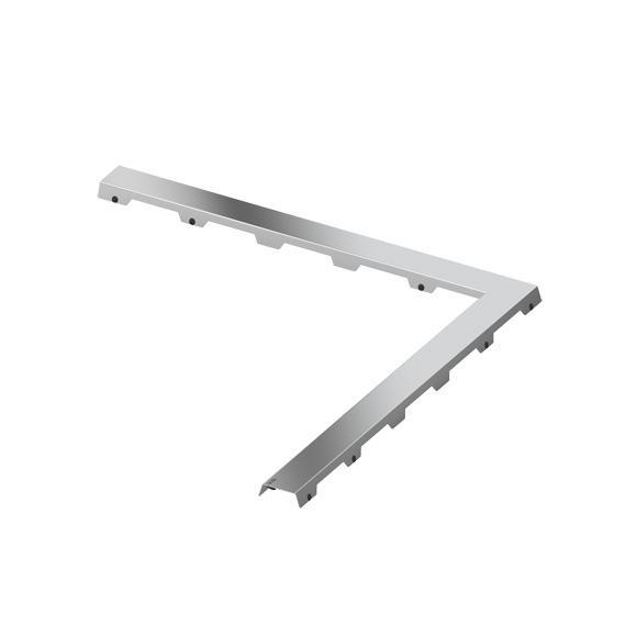 """TECE drainline Designrost """"steel II"""" für Winkelrinne für Duschrinne: 90 B: 90 cm"""