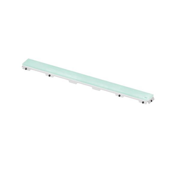 TECE drainline Glasabdeckung für Rinne, gerade grün, für Duschrinne: 80 cm