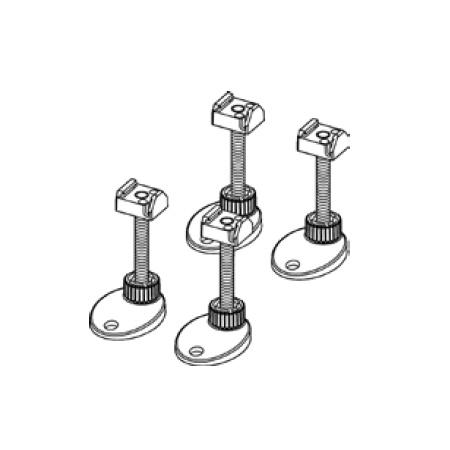 TECE drainline Montagefüße, schallentkoppelt, Verstellbereich 92-139 mm