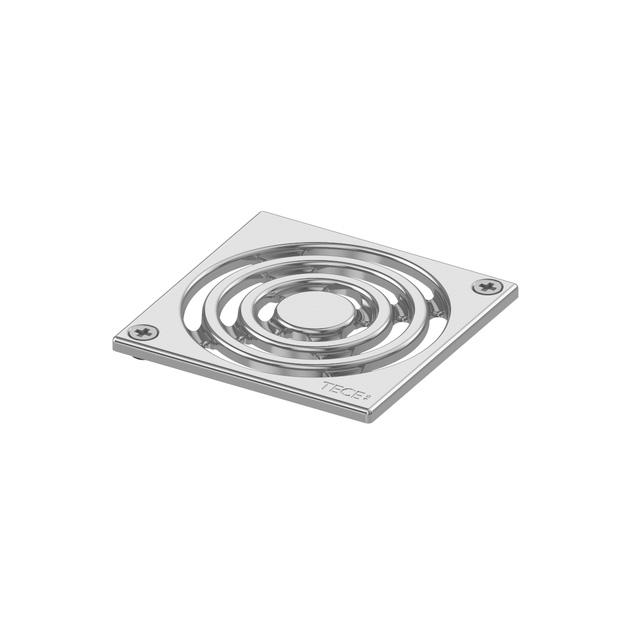 TECE drainpoint S Designrost Edelstahl, verschraubbar L: 10 B: 10 cm