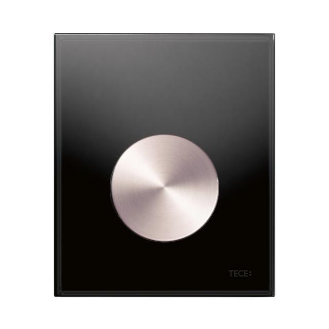 TECE loop Glas Urinal-Betätigungsplatte inkl. Kartusche schwarz/edelstahl rundgebürstet