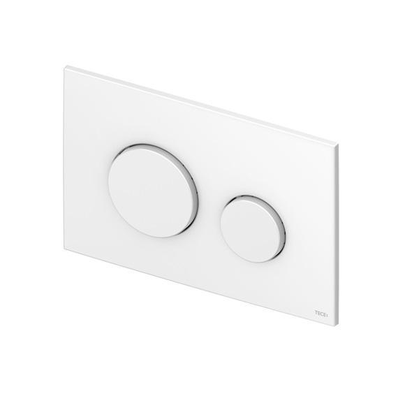 TECE loop WC-Betätigungsplatte für 2-Mengen-Technik aus Kunststoff weiß antibakteriell