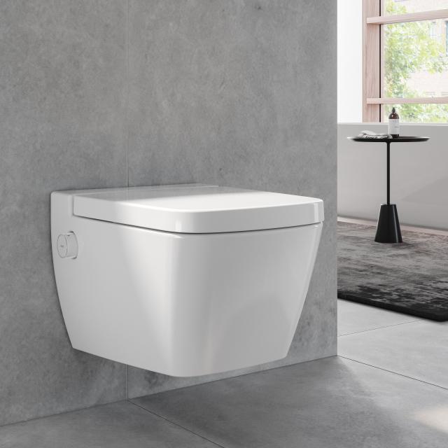 TECE one Wand-Tiefspül-WC, mit Duschfunktion, Kaltwasser, mit WC-Sitz