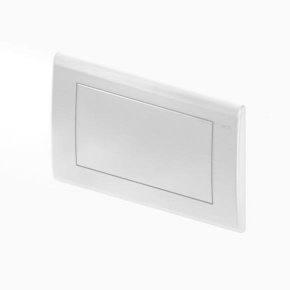 TECE planus WC-Betätigungsplatte für 1-Mengen-Technik weiß seidenmatt