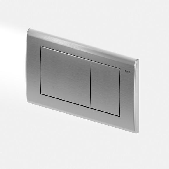 TECE planus WC-Betätigungsplatte für 2-Mengen-Technik edelstahl gebürstet