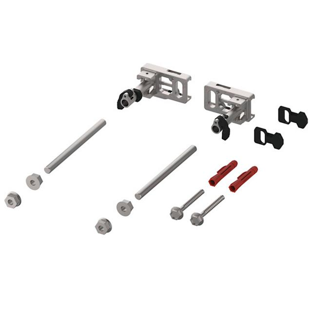 TECE profil Modulbefestigung mit Tiefenverstellung und Schnellverschluss