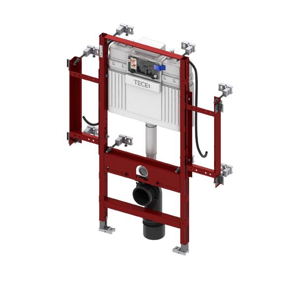 TECE profil Wand-WC-Gerontomodul mit TECE-Spülkasten, H: 112 cm, Betätigung von vorne