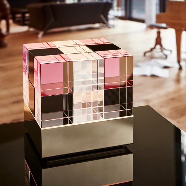 TECNOLUMEN Cubelight LED Tischleuchte mit Dimmer