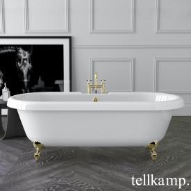 Tellkamp Antiqua Freistehende Oval-Badewanne weiß glanz, Schürze weiß glanz