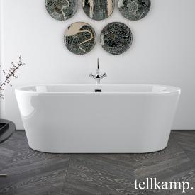 Tellkamp Easy freistehende Oval Whirlwanne weiß glanz, Schürze weiß glanz
