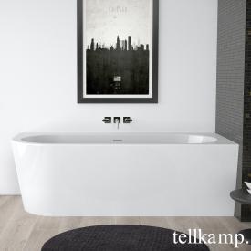 Tellkamp Pio L Eck Badewanne, Ausführung links weiß glanz, Schürze weiß glanz