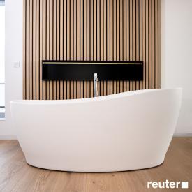 Tellkamp Sao Freistehende Oval-Badewanne weiß matt, Schürze weiß matt, ohne Füllfunktion