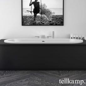 Tellkamp Solitär Fix Oval Badewanne weiß glanz, mit Füllfunktion über Überlauf