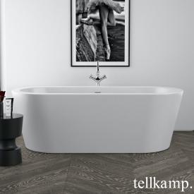 Tellkamp Solitär freistehende Oval Badewanne weiß matt, Schürze weiß matt, ohne Füllfunktion