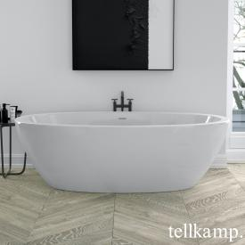 Tellkamp Space Freistehende Oval Badewanne weiß glanz, Schürze weiß glanz, ohne Füllfunktion