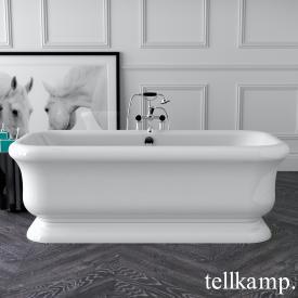 Tellkamp Vintage Freistehende Rechteck-Badewanne weiß glanz
