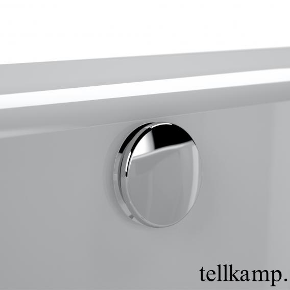 Tellkamp Cosmic freistehende Oval Badewanne weiß glanz, Schürze weiß glanz