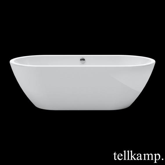 Tellkamp Cosmic freistehende Oval Badewanne weiß glanz, Schürze weiß glanz, ohne Füllfunktion