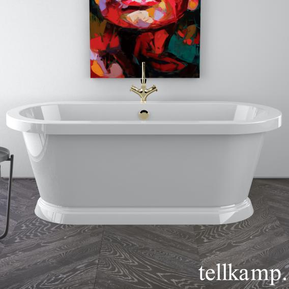 Tellkamp Elegance Base freistehende Oval Badewanne weiß glanz