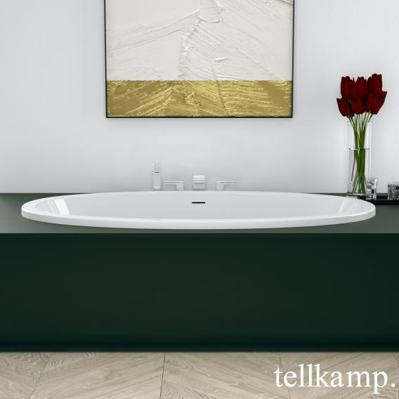 Tellkamp Space Fix Oval Badewanne weiß glanz, ohne Füllfunktion