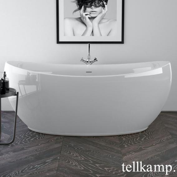Tellkamp Spirit freistehende Oval Whirlwanne weiß glanz