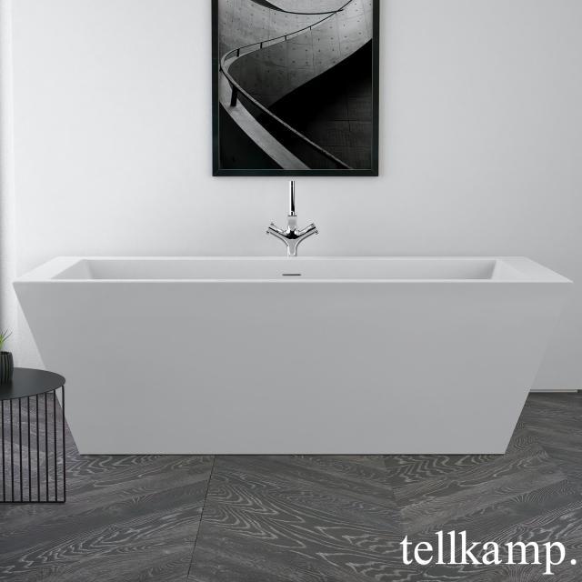 Tellkamp Base Freistehende Rechteck-Badewanne weiß matt, ohne Füllfunktion