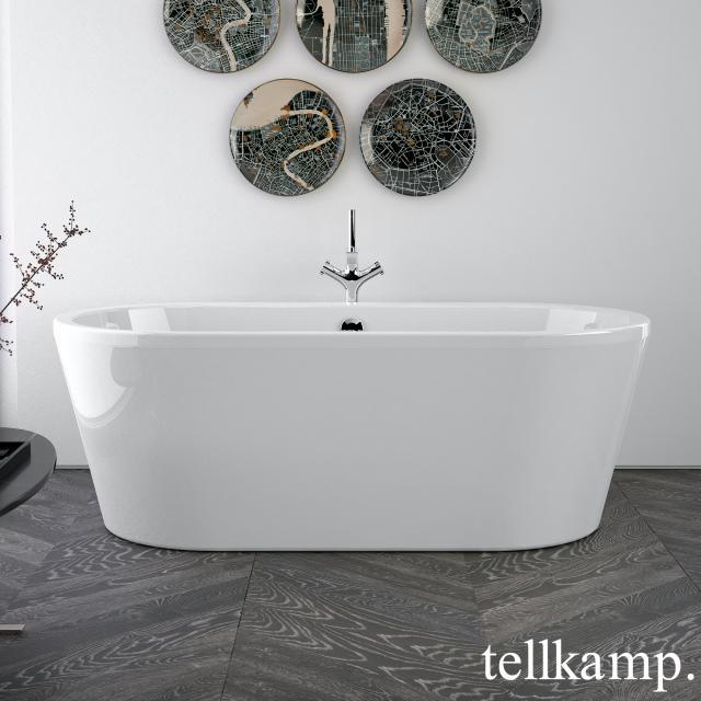 Tellkamp Easy Freistehende Oval-Badewanne weiß glanz, Schürze weiß glanz, ohne Füllfunktion