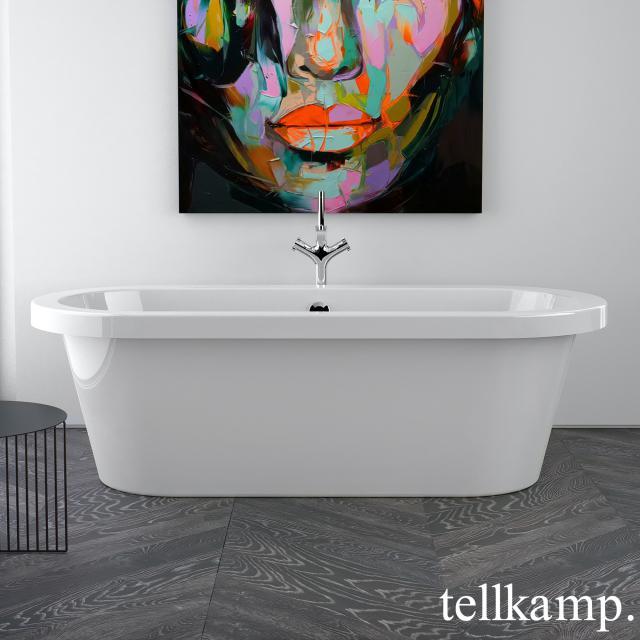Tellkamp Elegance Freistehende Oval-Badewanne weiß glanz