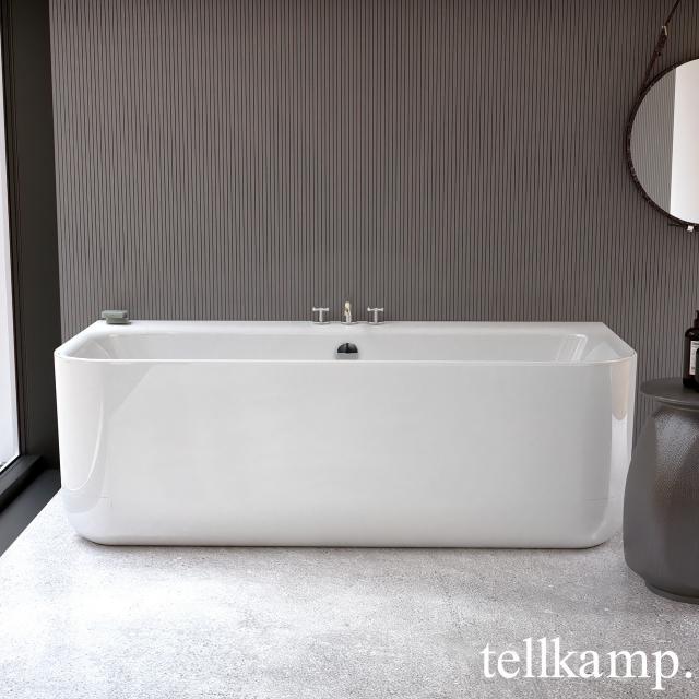 Tellkamp Koeno Vorwand-Badewanne mit Verkleidung weiß glanz, ohne Füllfunktion