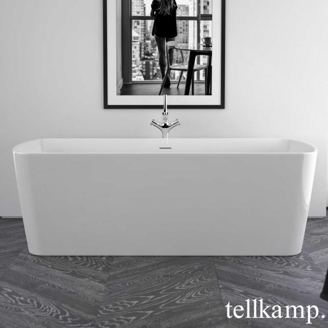 Tellkamp Komod Freistehende Rechteck-Badewanne weiß glanz, ohne Füllfunktion