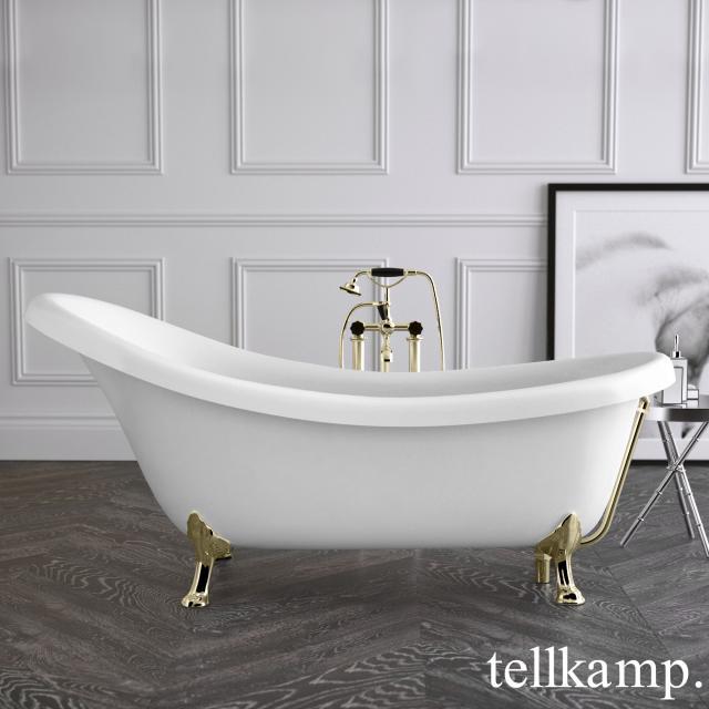 Tellkamp Nostalgia Freistehende Oval-Badewanne weiß matt, Schürze weiß matt