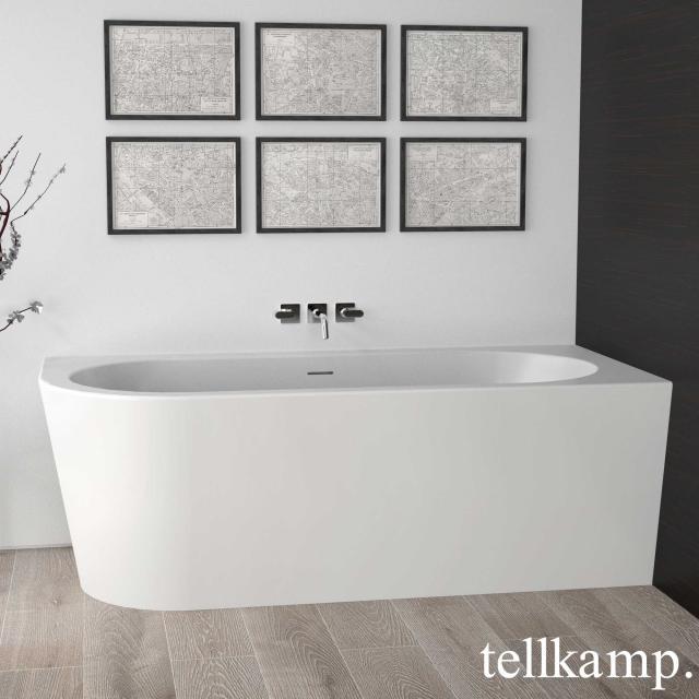 Tellkamp Pio Eck-Badewanne mit Verkleidung weiß matt, Schürze weiß matt, ohne Füllfunktion