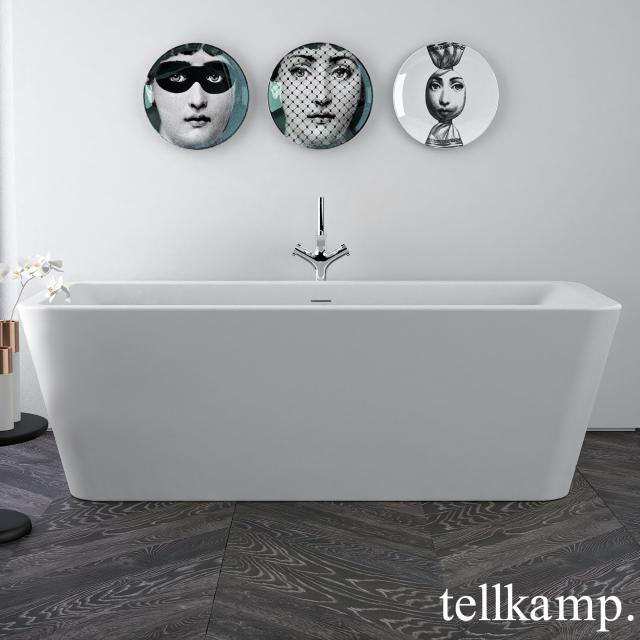 Tellkamp Pura Freistehende Rechteck-Badewanne weiß matt, ohne Füllfunktion