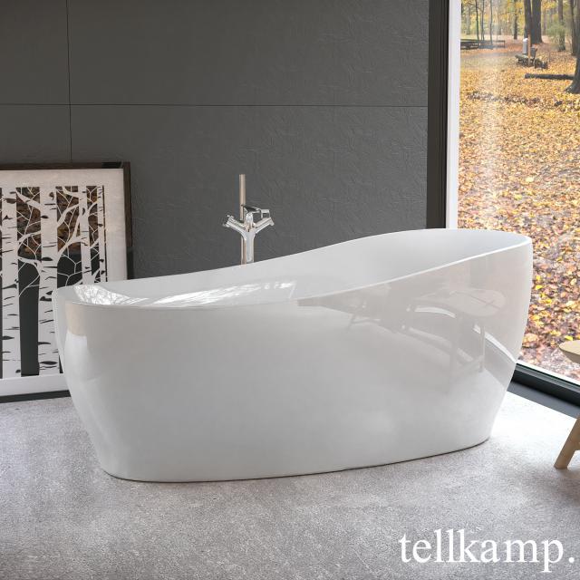 Tellkamp Sao Freistehende Oval-Badewanne weiß glanz, Schürze weiß glanz, ohne Füllfunktion