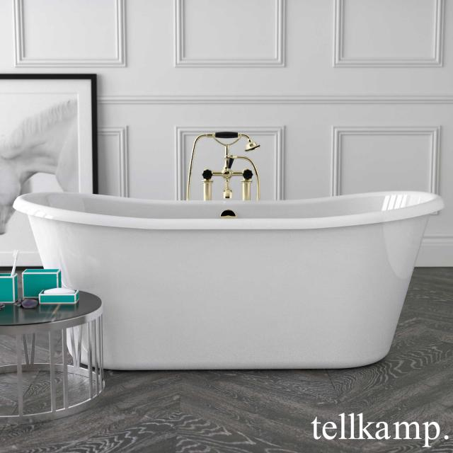 Tellkamp Scala Freistehende Oval-Badewanne weiß glanz