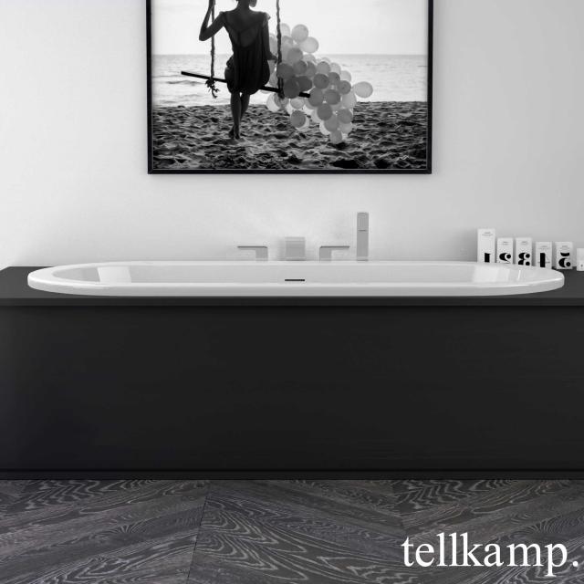 Tellkamp Solitär Fix Oval-Badewanne weiß glanz, ohne Füllfunktion